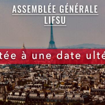 REPORTÉE – Assemblée générale LIFSU