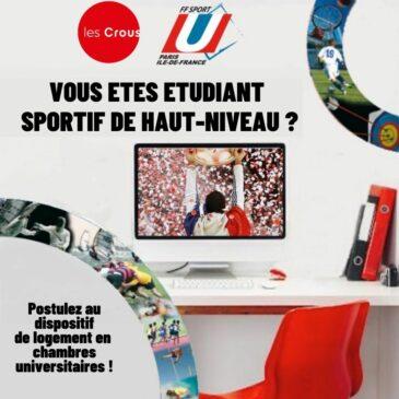 Logement en résidence universitaire pour les étudiants Sportifs de Haut-Niveau